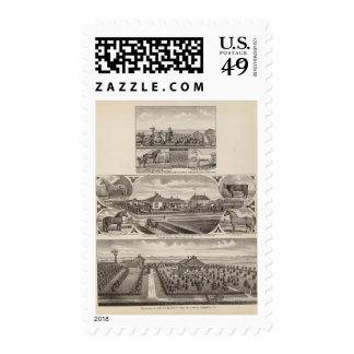 Residences and Farms, Wellington, Kansas Stamp