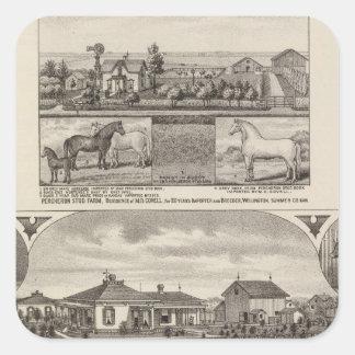 Residences and Farms, Wellington, Kansas Stickers
