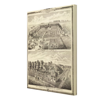 Residences and office, Douglas Tp Canvas Print