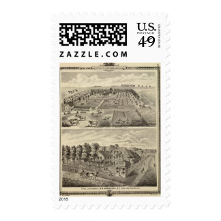 Residences and office, Douglas Tp Postage Stamps