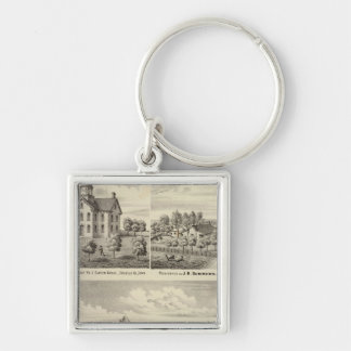 Residences and school in Garden Grove Keychain