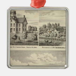 Residences and school in Garden Grove Metal Ornament