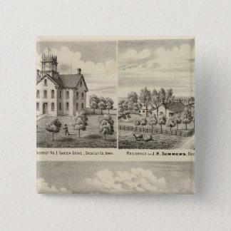 Residences and school in Garden Grove Pinback Button