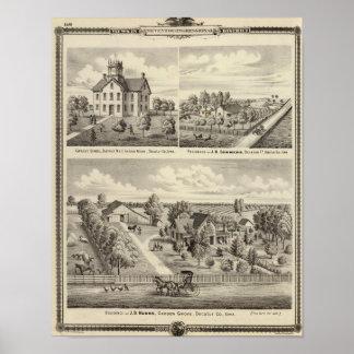 Residences and school in Garden Grove Print