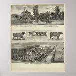 Residences and Stock Farm, Wichita, Kansas Poster