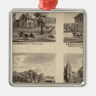 Residences and store in Polk County Metal Ornament