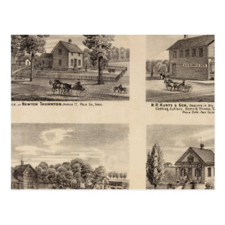 Residences and store in Polk County Postcard