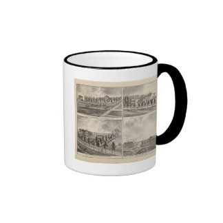 Residences and Stores in Zumbrota and Norway Ringer Coffee Mug