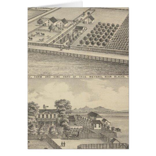 Residences, Black's Station Card
