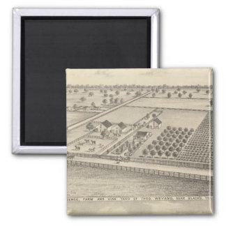 Residences, Black's Station 2 Inch Square Magnet