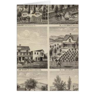 Residences, Brewery, ranch Greeting Card