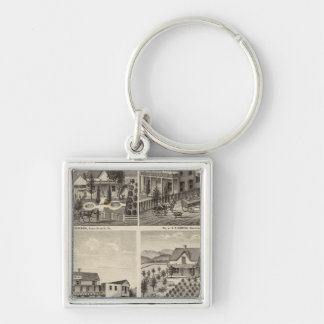 Residences, Brewery, ranch Keychains