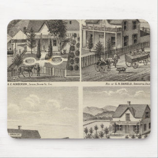 Residences, Brewery, ranch Mouse Pad