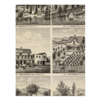 Residences, Brewery, ranch Postcard