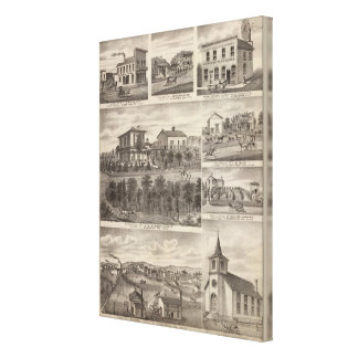 Residences, businesses, and Town of Eyota Canvas Print