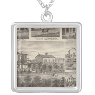 Residences, businesses, and Town of Eyota Silver Plated Necklace