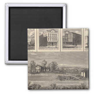 Residences, farm, businesses in W Liberty, Ackley 2 Inch Square Magnet