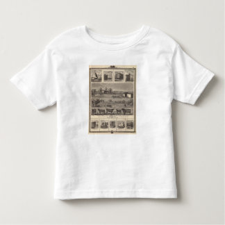 Residences, farm, businesses in W Liberty, Ackley Toddler T-shirt