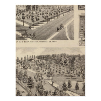 Residences, Farm, Minnesota Postcard