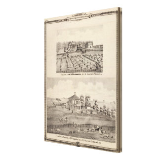 Residences & farm of Warrington Canvas Print