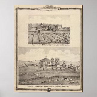 Residences & farm of Warrington Poster