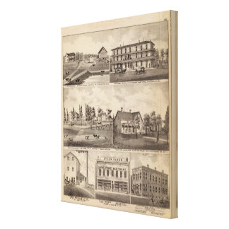 Residences, Farms and Businesses, Minnesota Canvas Print