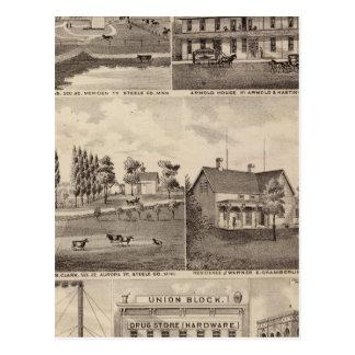Residences, Farms and Businesses, Minnesota Postcard