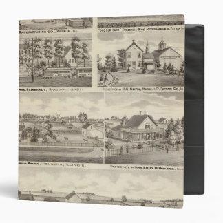 Residences, farms and factory, Vandalia, Sandoval 3 Ring Binders