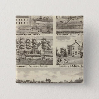 Residences, farms and factory, Vandalia, Sandoval Button