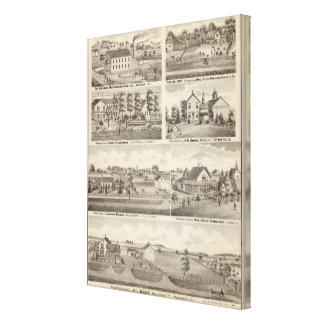 Residences, farms and factory, Vandalia, Sandoval Canvas Print
