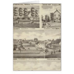 Residences, farms and factory, Vandalia, Sandoval Greeting Cards