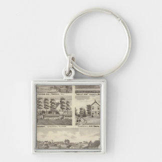 Residences, farms and factory, Vandalia, Sandoval Key Chains