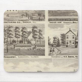 Residences, farms and factory, Vandalia, Sandoval Mouse Pad
