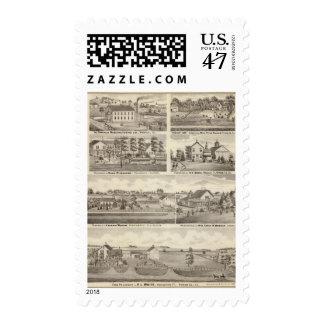 Residences, farms and factory, Vandalia, Sandoval Postage Stamp