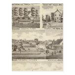 Residences, farms and factory, Vandalia, Sandoval Postcards