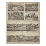 Residences, farms and factory, Vandalia, Sandoval Posters