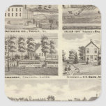 Residences, farms and factory, Vandalia, Sandoval Stickers