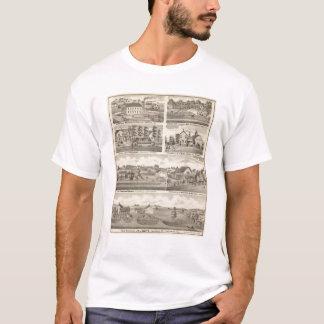 Residences, farms and factory, Vandalia, Sandoval T-Shirt