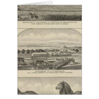 Residences, Farms, and Horses of Kansas Card
