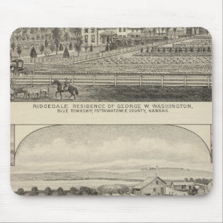 Residences, Farms, and Horses of Kansas Mouse Pad