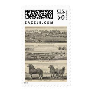 Residences, Farms, and Horses of Kansas Postage