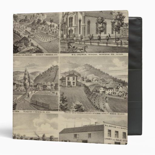 Residences, Farms, Brewery and Stable, Minnesota Vinyl Binder