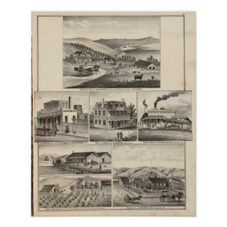 Residences, farms, businesses poster