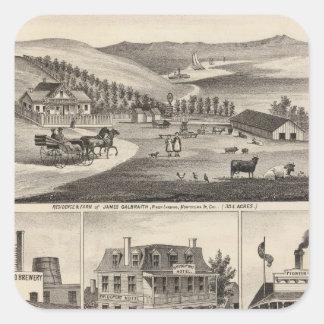 Residences, farms, businesses sticker