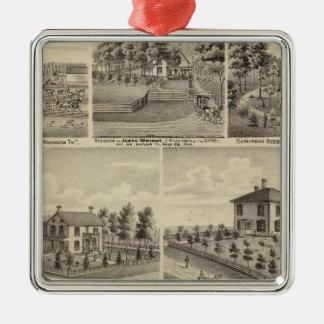 Residences, farms in Polk Metal Ornament