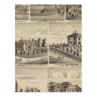 Residences, farms in Polk Postcard
