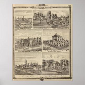 Residences, farms in Polk Print