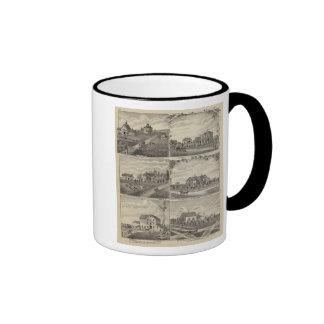 Residences, Farms, Mill in Litchfield, Minnesota Ringer Coffee Mug