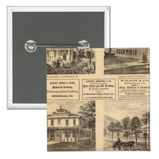 Residences, hotels, Titusville, Franklin Pinback Buttons