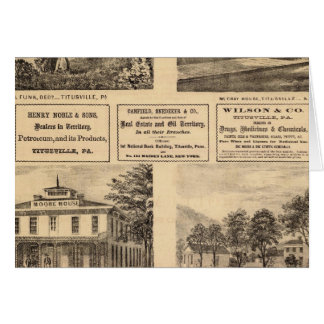 Residences, hotels, Titusville, Franklin Greeting Card